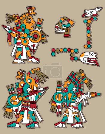 Mayan vector set