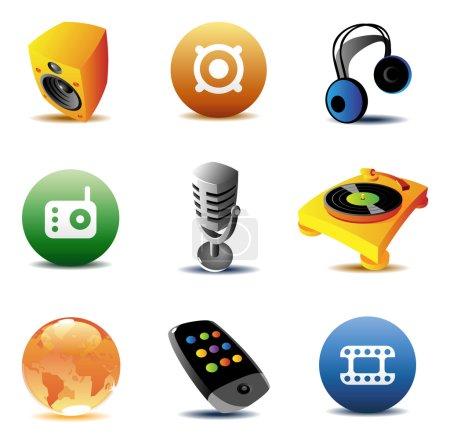Entertainment icons