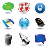 Icons for computer and website interface Vector illustration