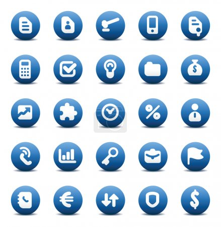 Vector icons for business metaphors
