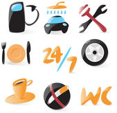 Smooth car service icons
