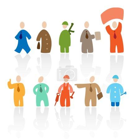 Illustration pour Caricature : professions. Illustration vectorielle - image libre de droit