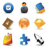 Obchodní kontakty ikony