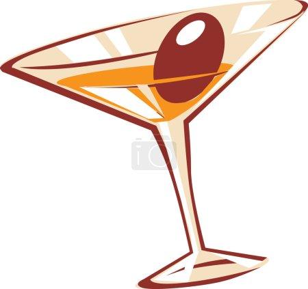 Illustration pour Verre à cocktail. Illustration vectorielle . - image libre de droit