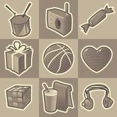 Monochrome teen icons
