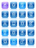 Buttons for science Icons for websites and interface elements Vector illustration