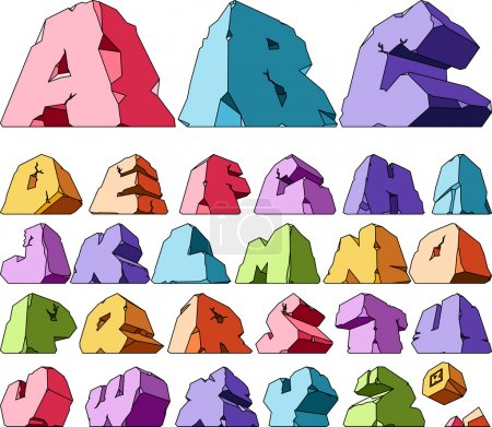 Illustration for Multicolored alphabet: letters. Vector ilustration. - Royalty Free Image