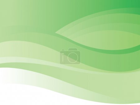 Green wave background