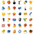Realistic colorfulvector icons set for business an...