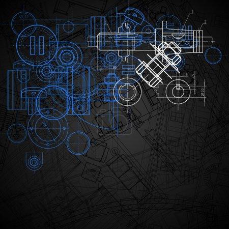 Illustration pour Contexte industriel abstrait, illustration vectorielle. - image libre de droit