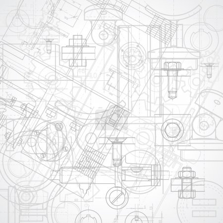 Illustration for Abstract industrial background, vector illustration. - Royalty Free Image