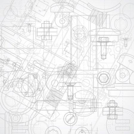 Illustration pour Résumé historique industriel, illustration vectorielle. - image libre de droit
