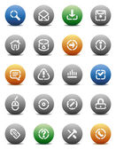 Buttons for internet Icons for websites and interface elements Vector illustration