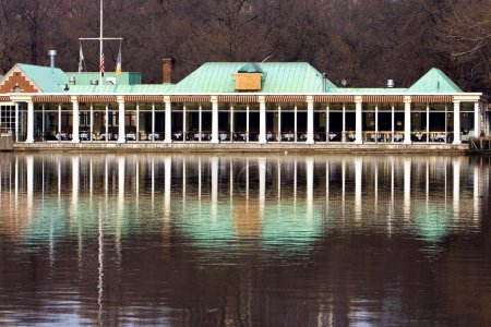 Photo for The boathouse restaurant in Central Park, New York City. - Royalty Free Image