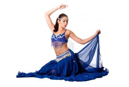 Belly dancer sitting