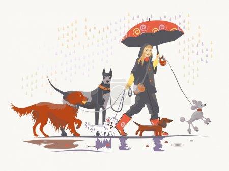 Girl under rain 2