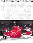Double-sided calendar 2011
