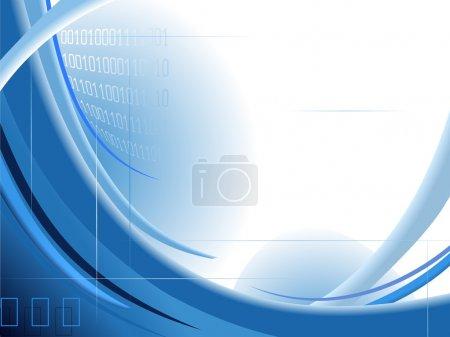 Photo pour Abstrait fond bleu avec code binaire - image libre de droit