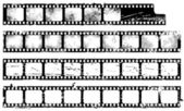 A set of distressed filmstrips in grunge style