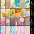 Business cards collections: retro, autumn colors, ...