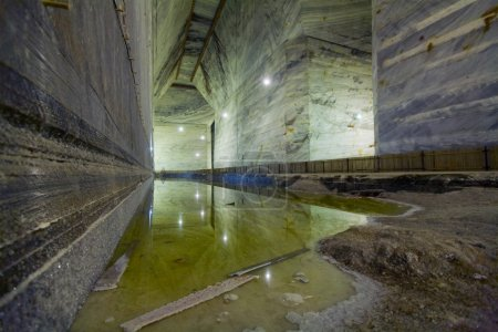 Large Underground Salt Mine Extraction Pit