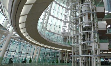 Interior of modern futuristic building - public ha...