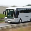 Fast moving tourist bus. Clipping path inside....