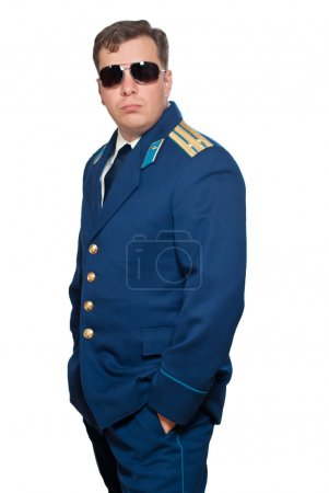 Officer of russian military air forces