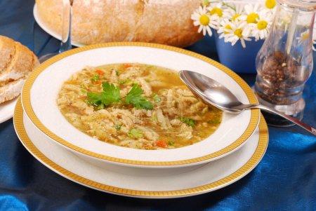 Traditional tripe soup (flaki)