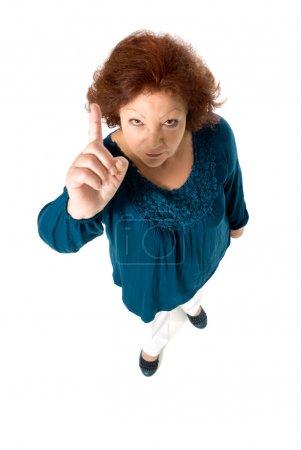 Senior woman scold