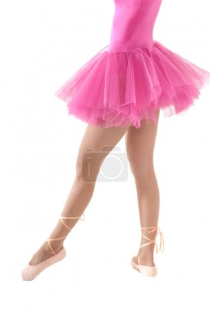 Unrecognizable female dancer body tutu