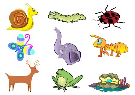 Assorted Cute Animal in Vector