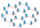 Global Profit Distribution Illustration in Vector
