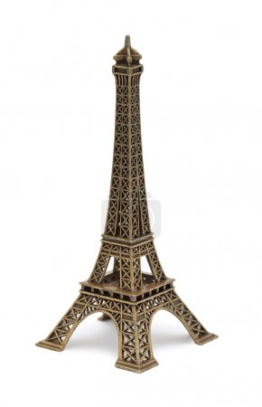 Photo for Eiffel Tower Statue, isolated on a white background - Royalty Free Image