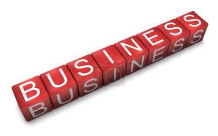 Photo pour Des blocs rouges avec des lettres disposées en un mot - business - image libre de droit