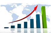 graphique 3d de monde affaires