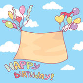 Cute birthday card with free place for your text