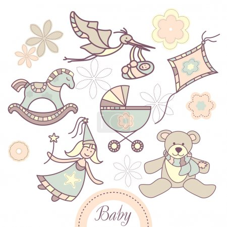 Set of baby products