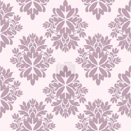 Illustration for Seamless damask wallpaper, vector illustration - Royalty Free Image