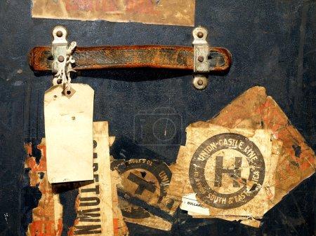Photo pour Vintage voyage affaire autocollants et étiquettes qui sont très utiles pour de nombreuses raisons de conception - image libre de droit