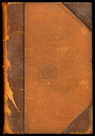 Vintage broken leather book cover