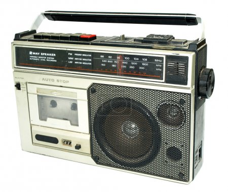 Dirty old 1980s style cassette player ra