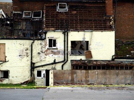 Crime Scene Fire Damaged House
