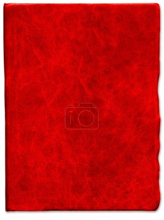 Vintage Red scratched leather texture