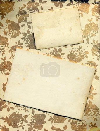 Floral Rose Background With Vintage Card