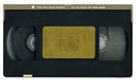 Photo pour Vieille cassette vidéo avant avec chemin de coupure - image libre de droit
