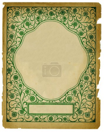 Photo for Vintage Decorative Background Design on Old Textured Paper - Royalty Free Image