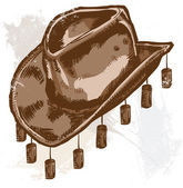 Vector illustration of a cowboy or Australian style hat All parts are editable