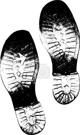 Sucio viejo botas pie huellas vector versi