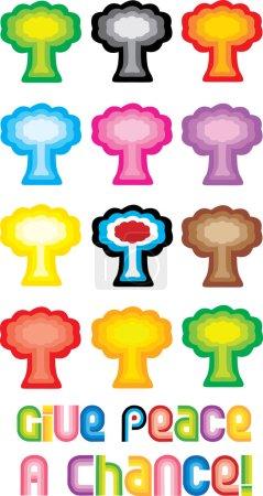 Peace Tree or Mushroom Cloud Symbol - Gi
